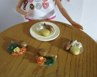 Chicken Drumstick Meal for 1:6 scale fashion dolls like Barbie