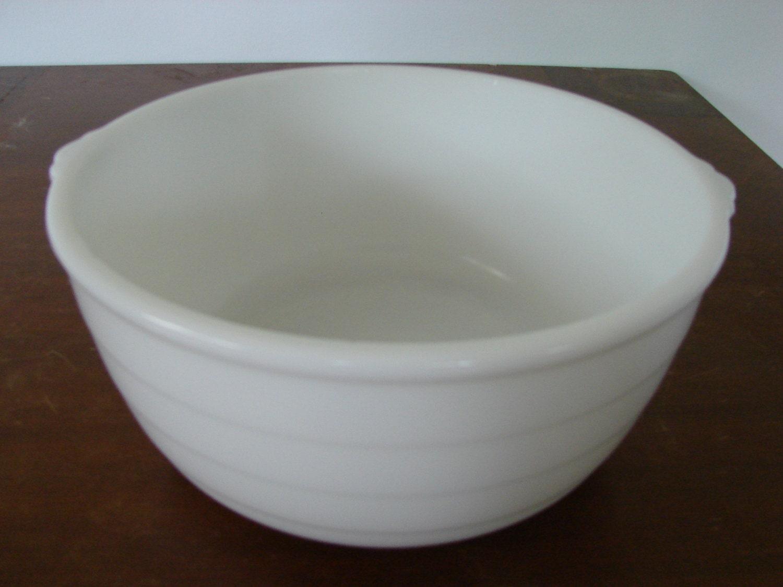 Electric Mixing Bowl ~ General electric mixing bowl large vintage ge ribbed white