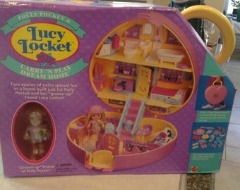 Vintage Polly Pocket and Lucy Locket Carry 'n play Dream Home