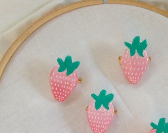 Pastel Stawberry Brooch