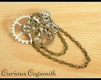 Steampunk Brooch - Cog Brooch - Steampunk Pin - Cog Pin - Steampunk Jewellery - Cog Jewellery - Steampunk Jewelry - Cog Jewelry