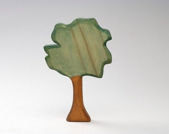 Toy Tree - Wooden Tree - Eco Friendly - Natural - Waldof Tree Toy - Wood Green Tree - Summer Landscape - Wooden Waldorf Toy - Forest Wood