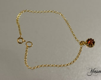 Garnet gold plated sterling