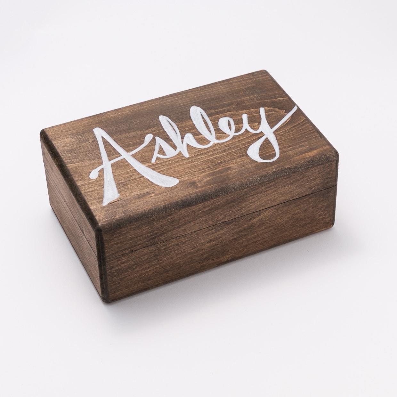 bridesmaid gift custom wooden bridesmaid box birthday. Black Bedroom Furniture Sets. Home Design Ideas