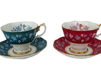 Royal Albert Teacups & Saucers, Pair