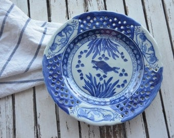 Blue and White Plate,