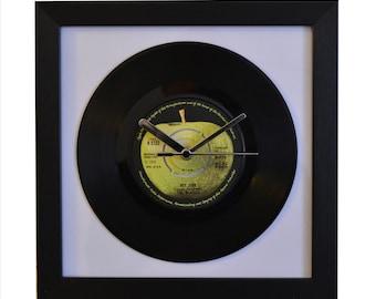The Beatles - Hey Jude -Vintage 7″ Vinyl - Framed Wall Clock