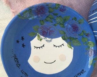 Yemanja Trinket Dish - Ring Dish - Ceramic Small Plate - Ceramic Plate - Small Ceramic Plate