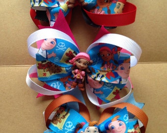 Jake and the never land pirates hair bow