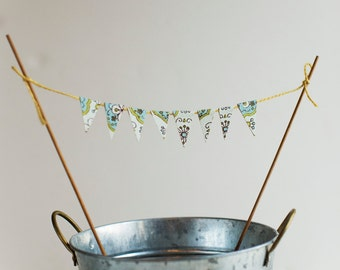 Cake Banner Made From Vintage Wallpaper