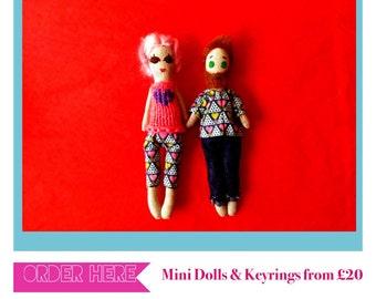 Selfie, Girlfriend/Boyfriend, Valentine Keepsake Mini Heirloom Doll