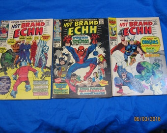 Complete Set of Marvel's Silver Age Not Brand Ecch, all 13 Issues.  Marvel Publishes a Humor Magazine Along the Lines of Mad Magazine!