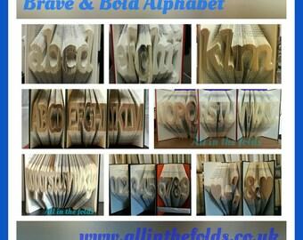 NEW Brave & Bold full size book folding alphabet