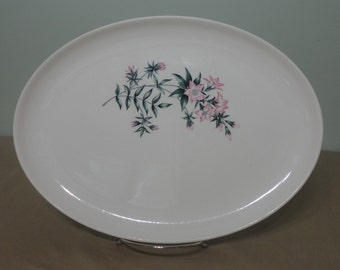 Vintage MCM Taylor Smith & Taylor TST Lady Marguerite Pink Flower Serving Platter