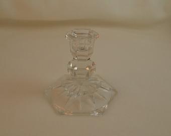 Vintage glass candlestick, vintage