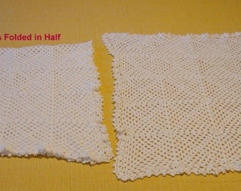 Crocheted Dresser Scarves > 2 Pieces