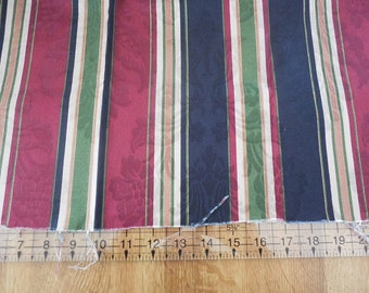 Destash- Home Decor Upholstery Striped Fabric Remnant