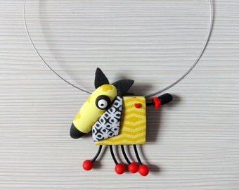 "Pendant ""Yellow Dog"""