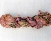 Coral! - Hand dyed yarn - Variegated yarn - Speckled yarn - Superwash Merino Wool - Worsted weight - Acid dye