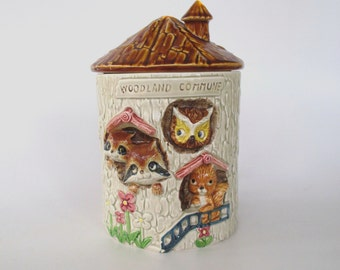 Enesco Woodland Commune Ceramic Cookie Jar, S-