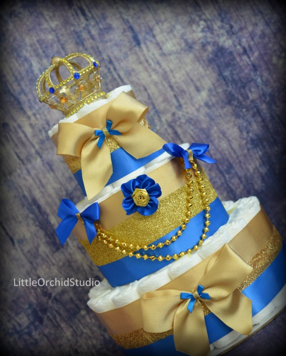 Royal Prince Diaper Cake/ Little Prince Baby By