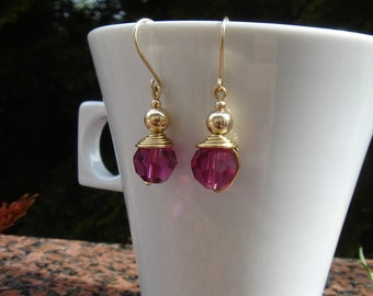 Great earrings of Crystal in 585-er Goldfilled!
