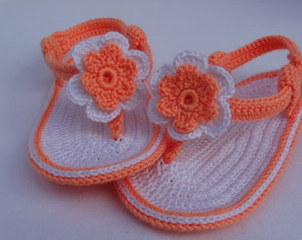 Hand made Crochet baby Sandals,crochet baby shoes
