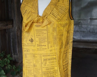 Vintage 1960s Rare Iconic Paper Dress * Yellow Pages * Waste Basket Boutique