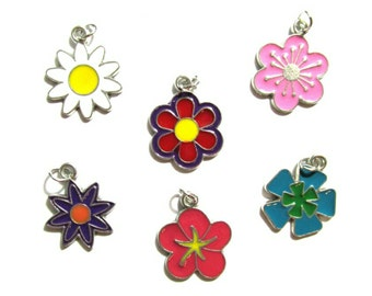 Flower Bloom Charms | Jewelry Charms | Bracelet Charms | Necklace Charms