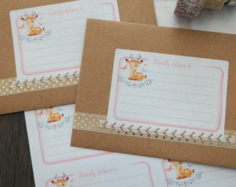Mailing labels - Woodland Deer