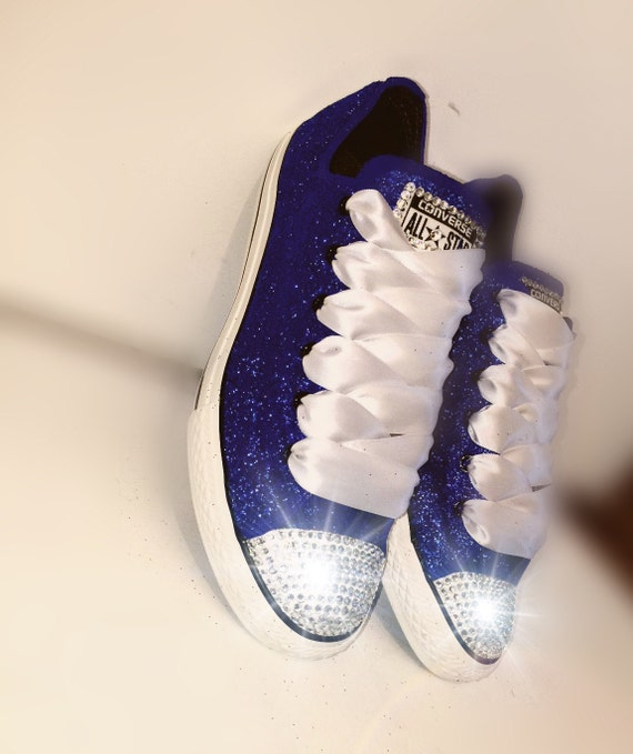 s converse all shoes handmade sparkly by