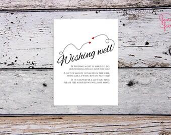 Wishing well card - sweethearts