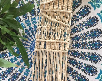 Wall Hanging / Macrame / Ecru Cotton /handmade