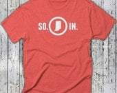 SO. IN. Indiana State Tee by UnVeil Co. -- So. In. Tee, Tri-Blend T-Shirt, Multi-Colors