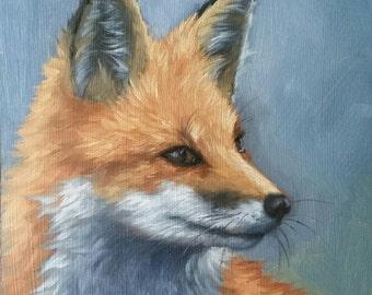 FOX - red fox - fox painting - fox print - wildlife painting