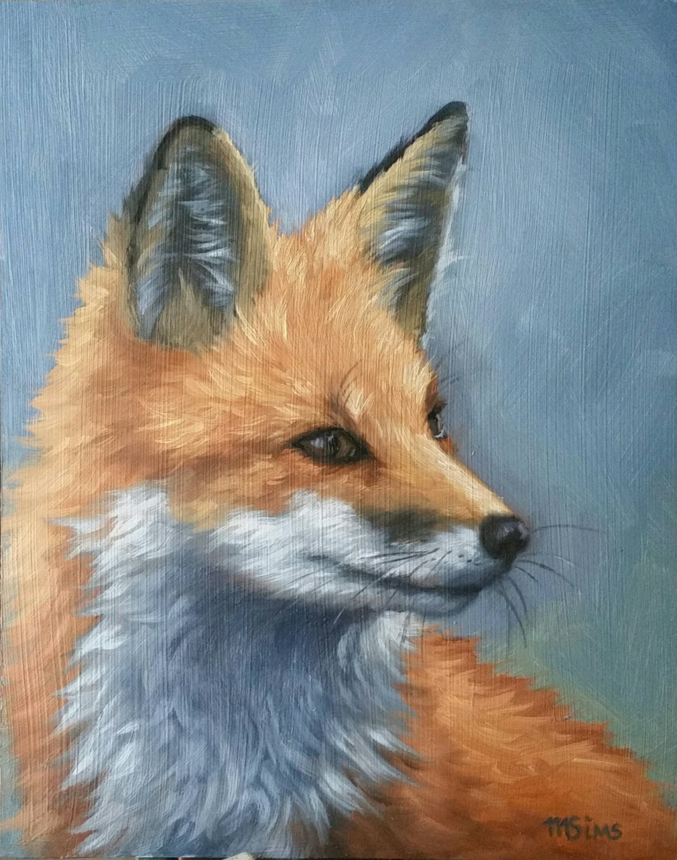 Fox Red Fox Fox Painting Fox Print Wildlife Painting