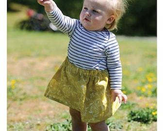Girls Skirt | Newborn skirt | Toddler Skirt | Made to Order | Baby Skirt | Floral | Art Gallery | Mustard Floral | Summer Skirt | Spring