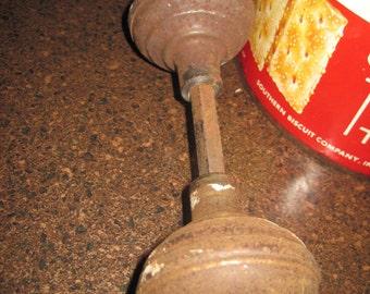 Vintage old rusty metal doorknob