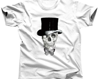 Skull Shirt Skull Tshirt Skull T Shirt Skull Clothing Skeleton Shirt Halloween Shirt Skull Tee Skull Top Gothic Shirt Punk Shirt Face