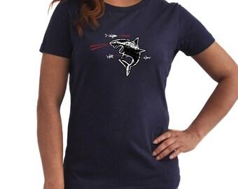 Sharks with Frickin Laser Beams Women T-Shirt