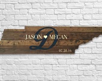 Tennessee state cutout - Wedding Sign