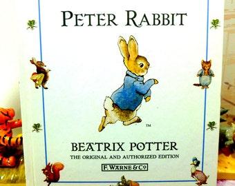 The Tale of Peter Rabbit Beatrix Potter Beautiful Illustrations Vintage Hardback Book 1st Edition Thus