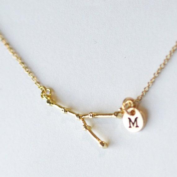 Taurus Constellation Necklace: Taurus Constellation Necklace Wedding Bridesmaid Necklace