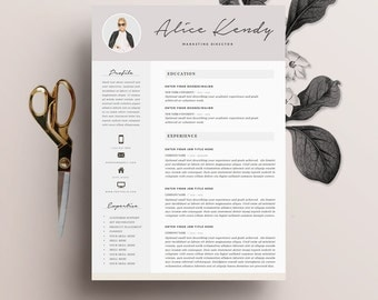 resume template 4 page word diy printable cv with cover letter the charming