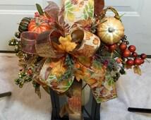 Fall lantern swag with pumpkins fall arrangement fall centerpiece