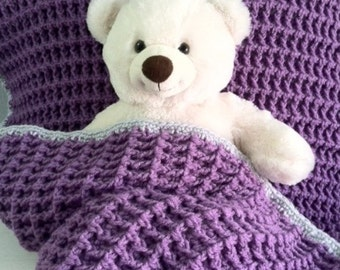 "Baby Blanket, 33""x27"", Crocheted"