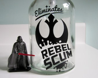 Rebel Scum Glass Soap Dispenser - Star Wars Bathroom Decor