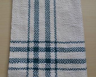 Handwoven Kitchen Towel - Handwoven Cotton Towel - Striped Kitchen Towel