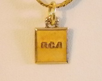 Gold Chain RCA Service Recognition Award Pendant Necklace