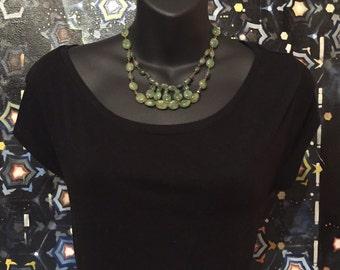 Green Aventurine Bib Necklace